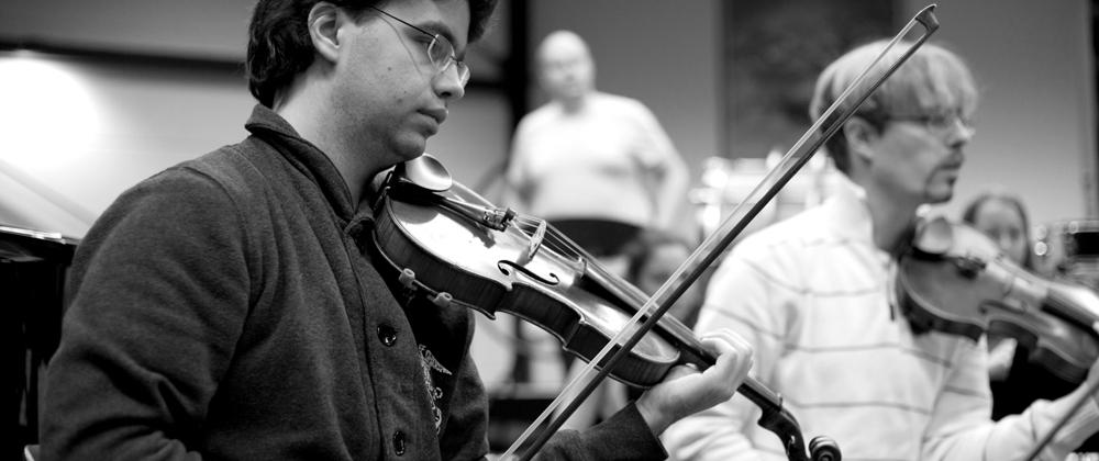 Bob van der Ent and Emile Junge, <span>violin</span>