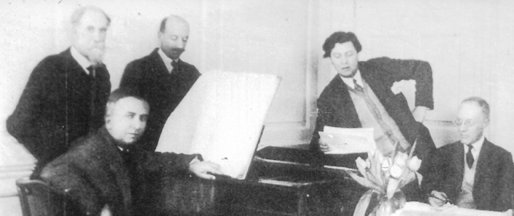 The I.S.C.M. Jury: Koechlin, Casella, Adrian Boult, Berg and E.J. Dent